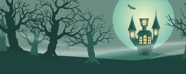 2020 Halloween Background Banner